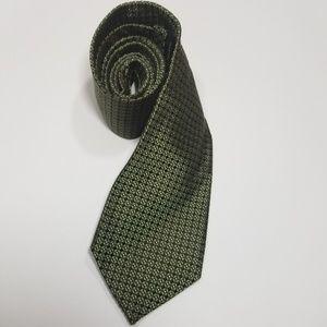 Men's Banana Republic Green Geo Print Silk Tie